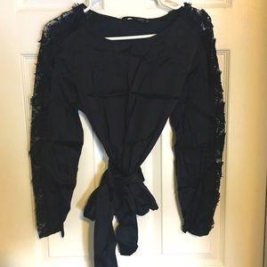 🦋NWOT - Zara - satin lace blouse🦋